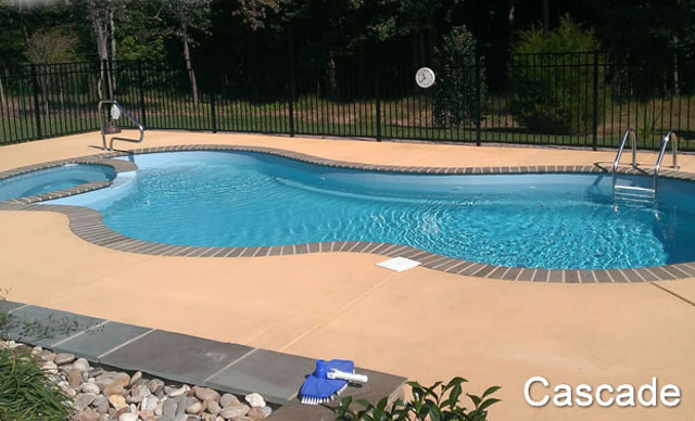 Pool with Spa: Cascade