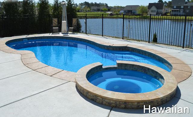 Pool with Spa: Hawaiian